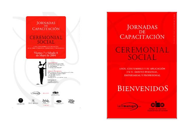 Diseño de identidad y aplicación de la misma en afiches y lonas para el CIEC.