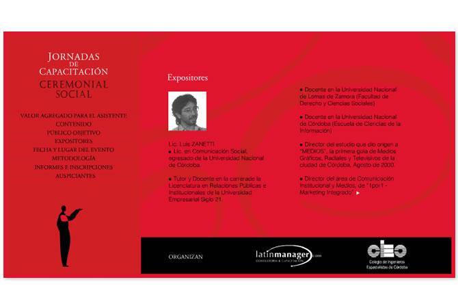 Diseño de sitio web con fines informativos de las Jornadas de Ceremonial.