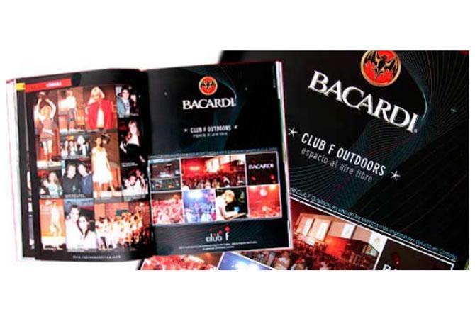 Diseño de publicidades para Club F en la revista Las Rosas, Córdoba, Argentina.